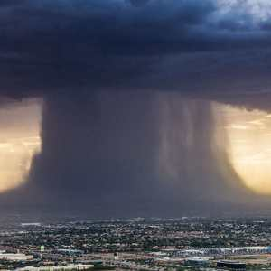 Incredibly Powerful Microburst Storm