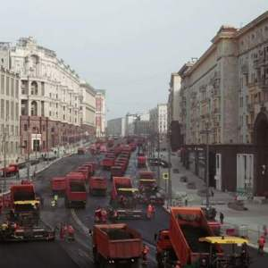 Reconstruction of the Tverskaya street