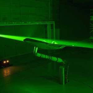 A Laser view of Blended Wing Body Plane