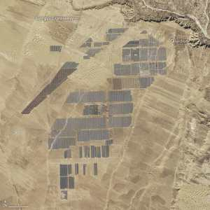 World's largest Solar Farm from space
