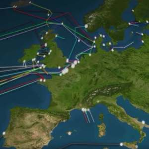 Animated map of the Internet Cables hidden under the ocean