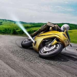 A Gas-Powered Anti-Slide system for motorcycles