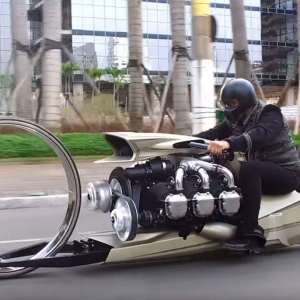 The motorcycle with airplane engine