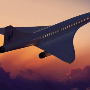 Boom Supersonic passenger airplane