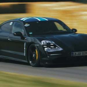 Porsche Taycan prototype in official video