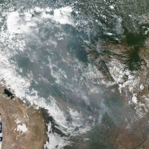 Record Wildfires in the Brazilian Rainforest