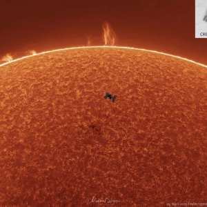 Space Station, Solar Prominences, Sun