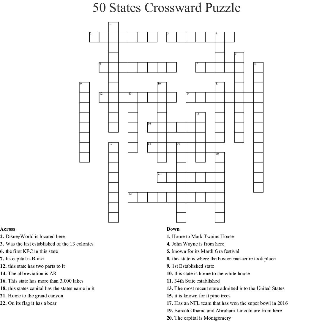 Football Crossword