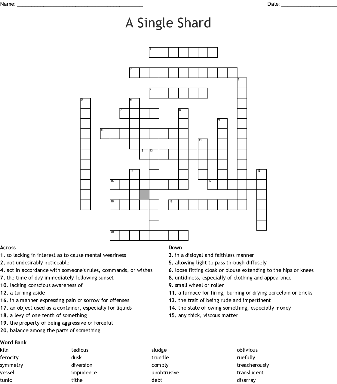 The G S Of Wrath Vocabulary 3 Crossword