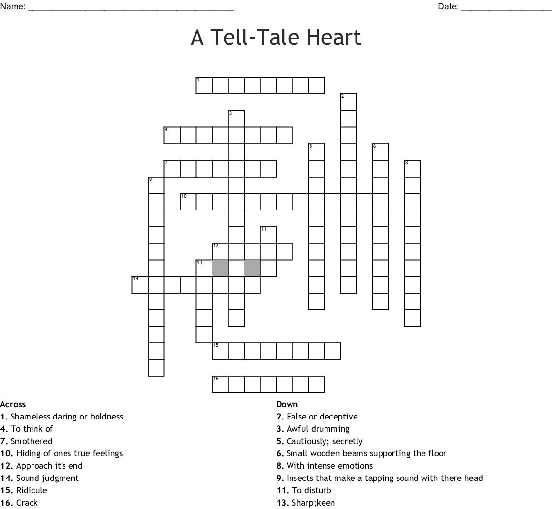 The Tell Tale Heart Crossword
