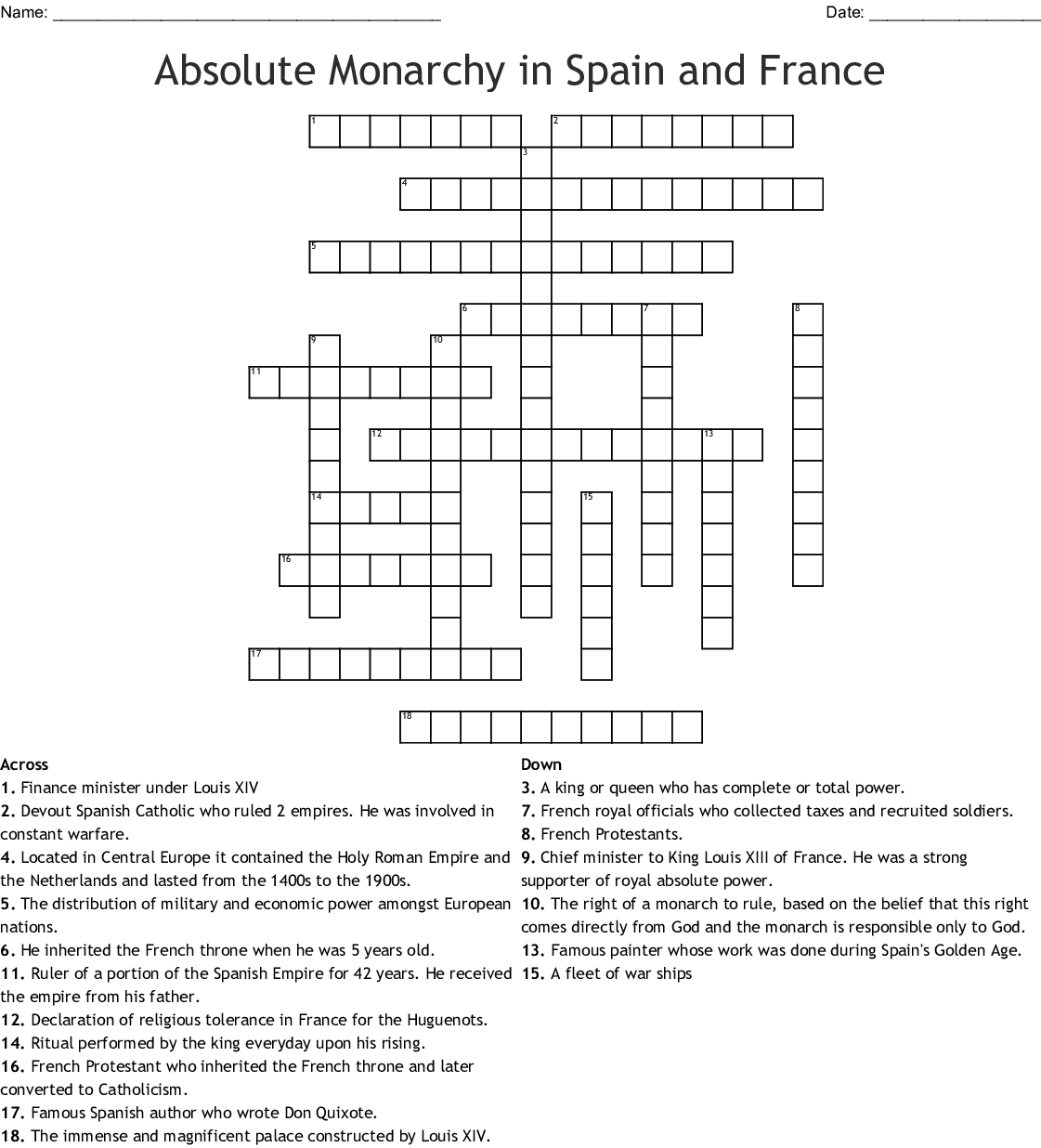 Spanish Armada Word Search