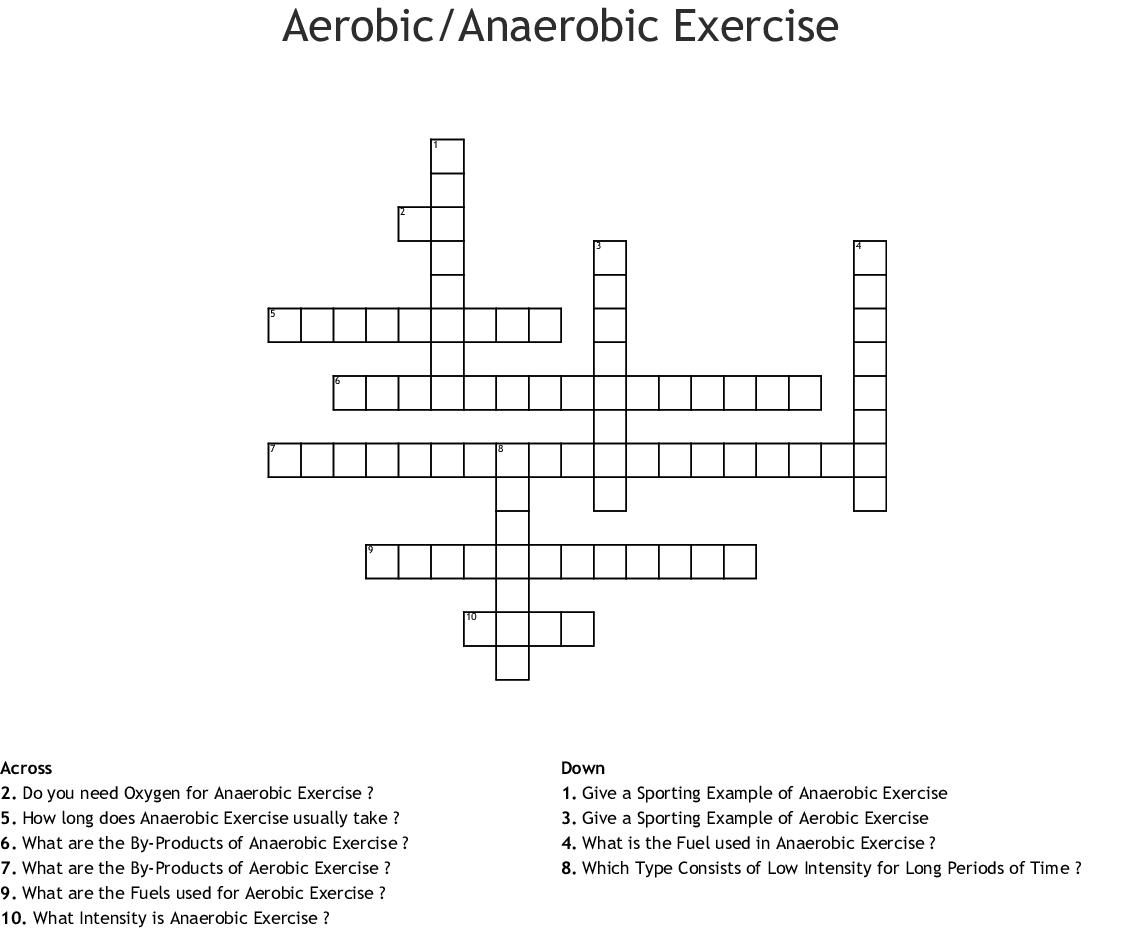 Energy Systems Crossword