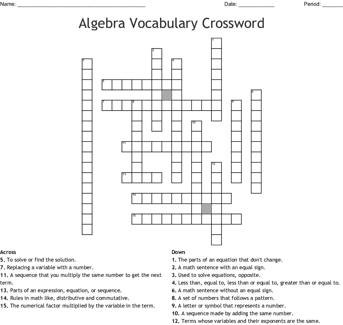 Crossword Puzzle Maker Final Puzzle Answers