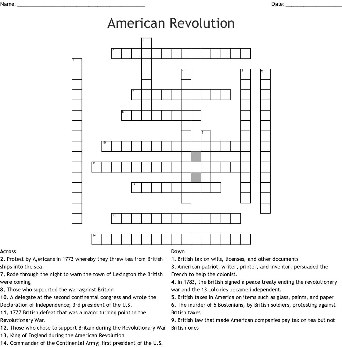 Crossword Usa Stu S Weekly 5th Grade Week 4 Answer Key