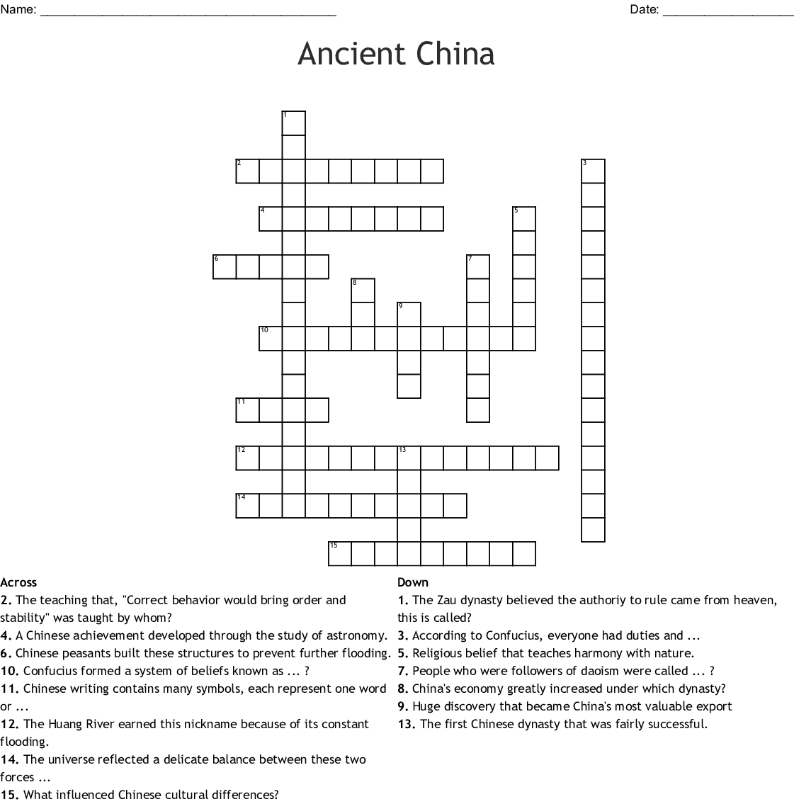 Ancient China Word Search By Siaosi Logotaeao
