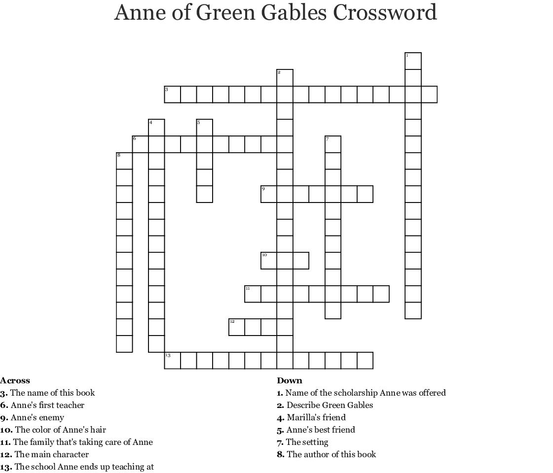 Children S Literature Crosswords Word Searches Bingo