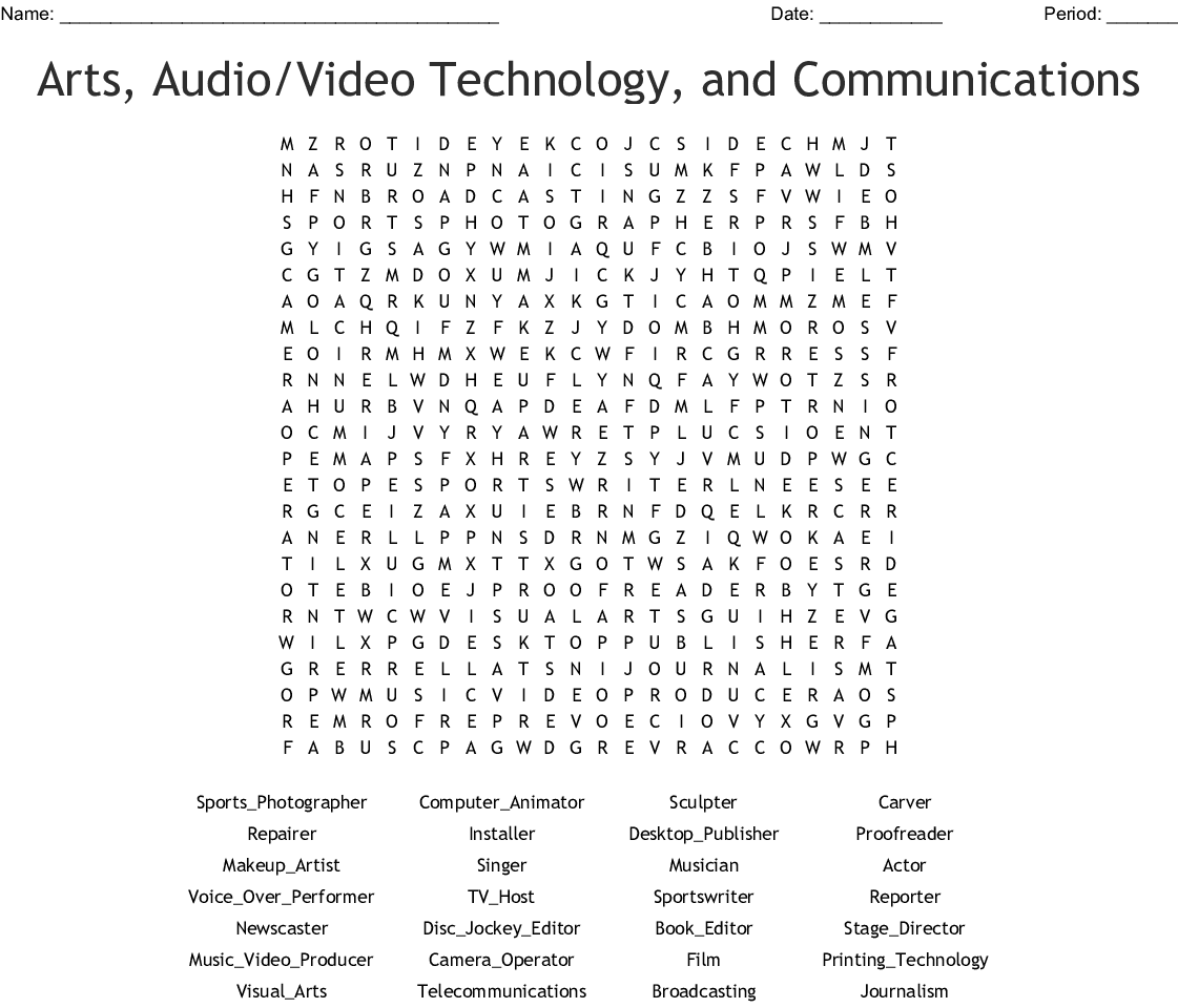 Technology Vocabulary 2 Multimedia Crossword