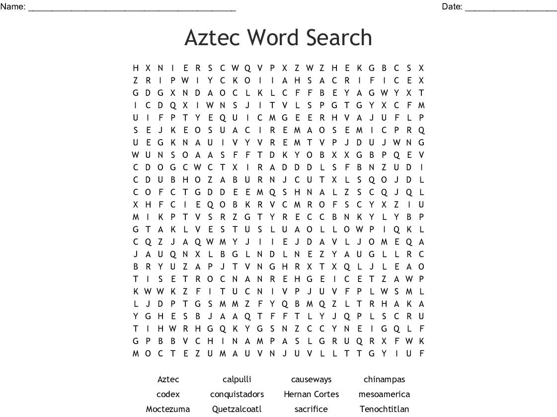 Mayan Word Search