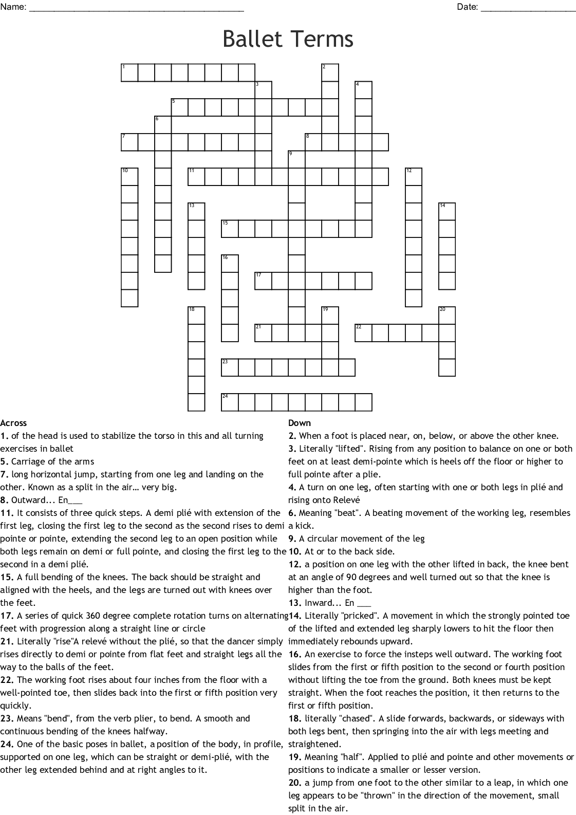 Jazz Unit Crossword