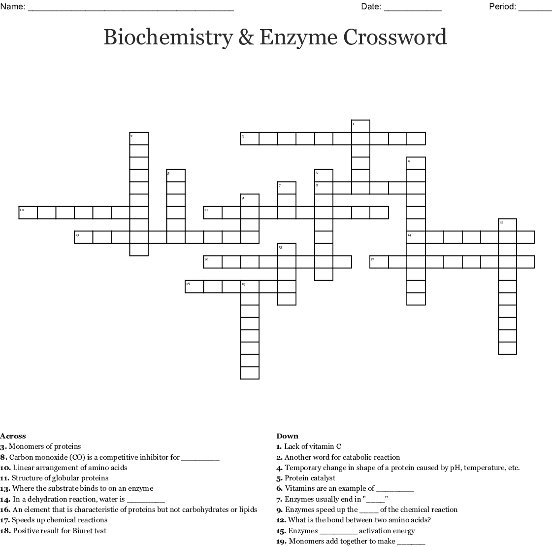 Chemical Equilibrium And Chemical Kinetics Crossword