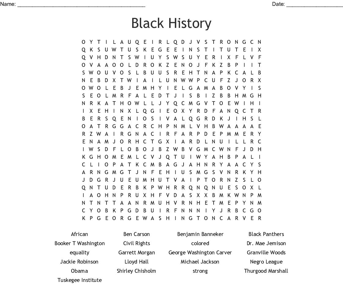 Myancestorsdiddat African American Inventors Word Search