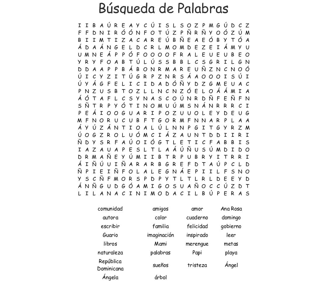 Busqueda De Palabras Word Search