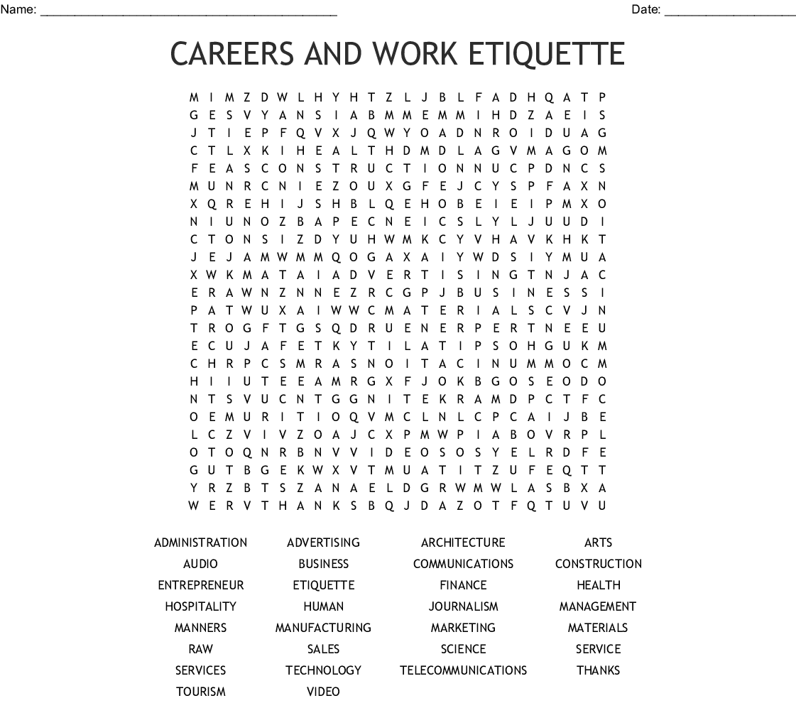 Aidet Word Search