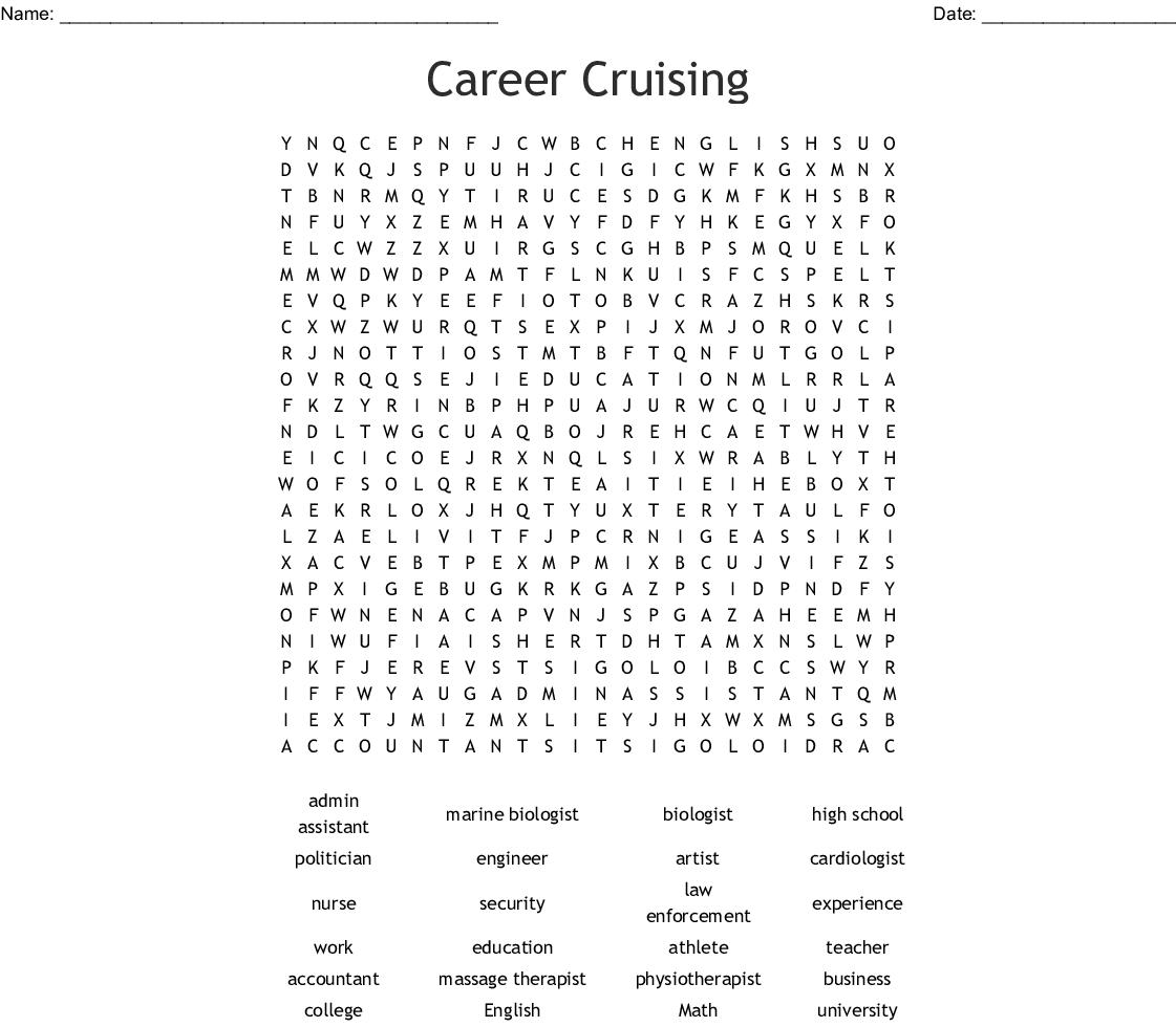 Career Cruising Word Search