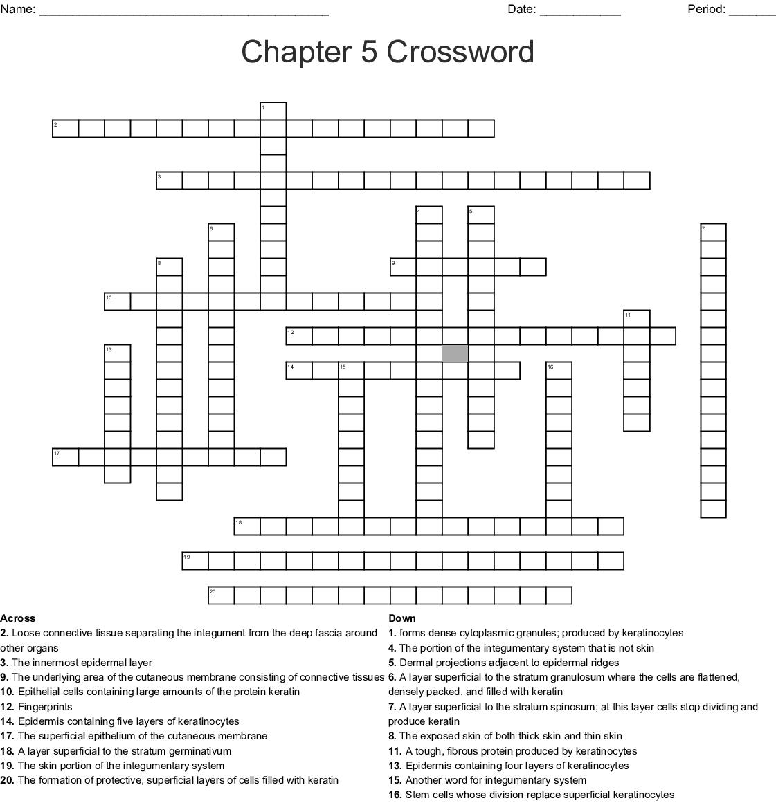 Bestseller Chapter 5 The Integumentary System Worksheet