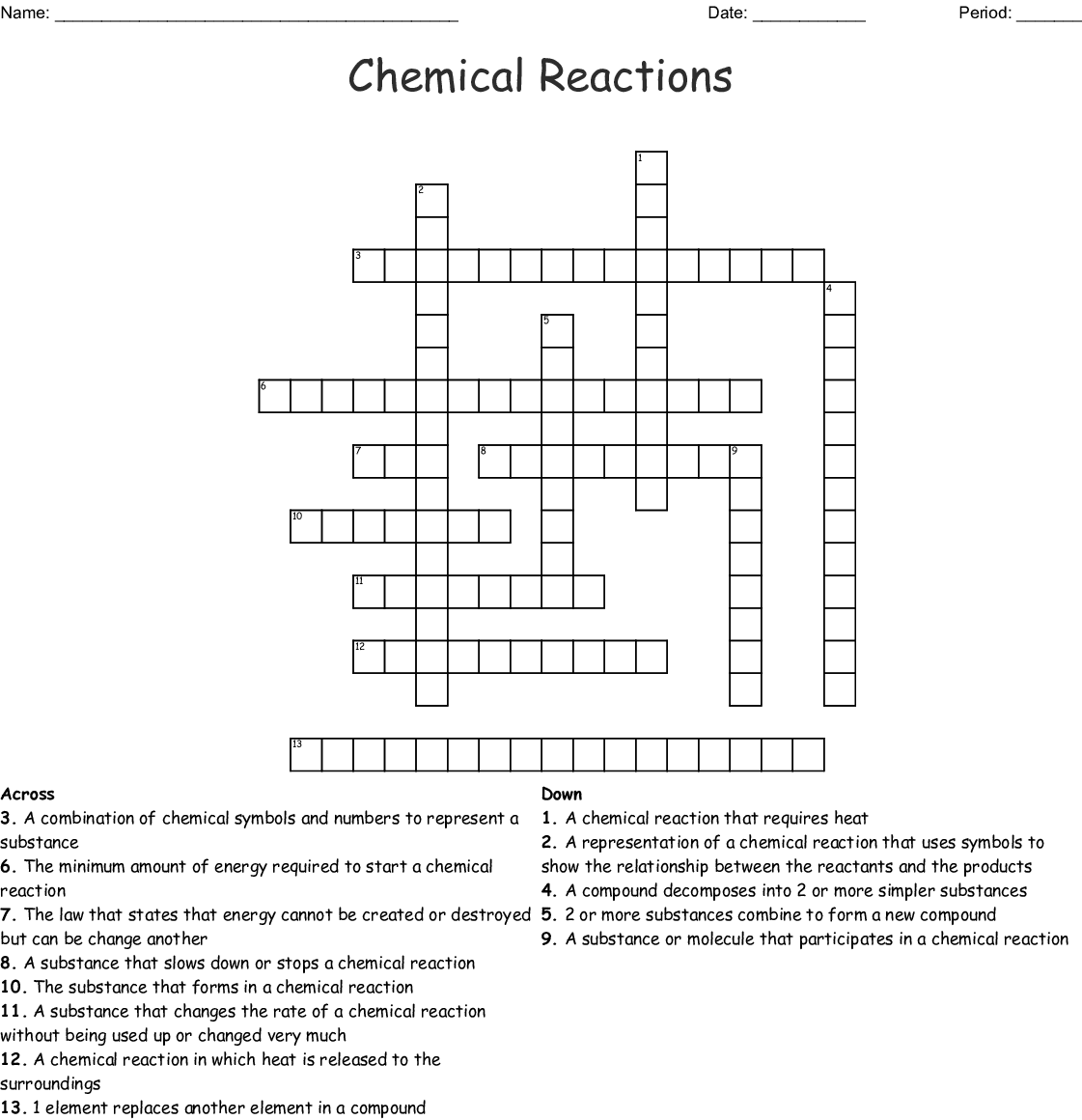 Energy And Chemical Reactions Worksheet Answers