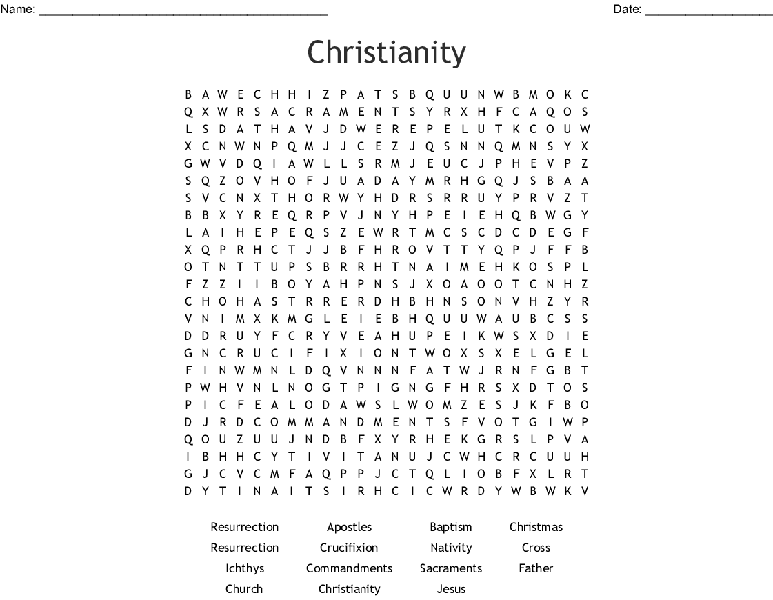 Christianity Word Search