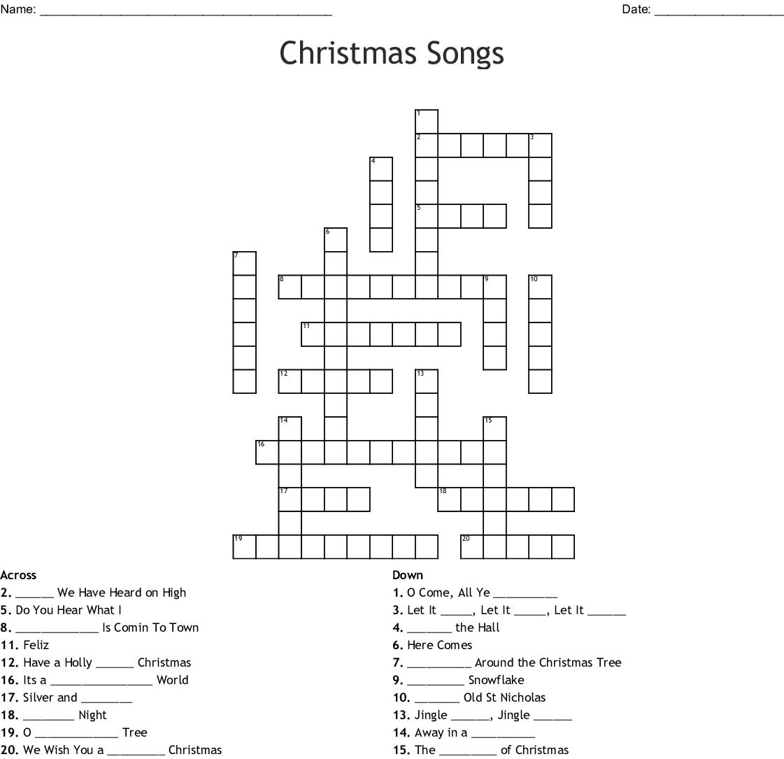 Christmas Carols Word Search