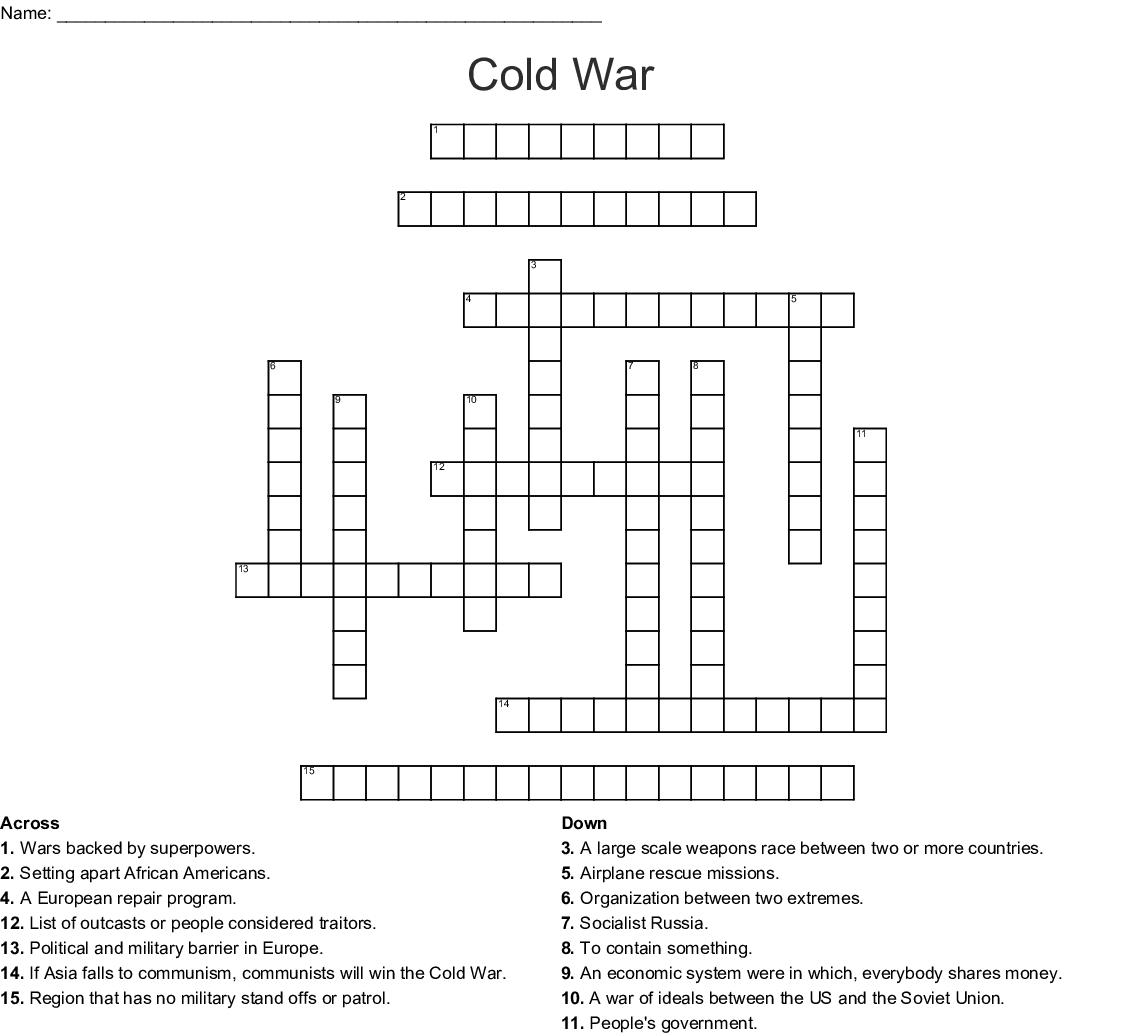 Korean War Crossword Puzzle