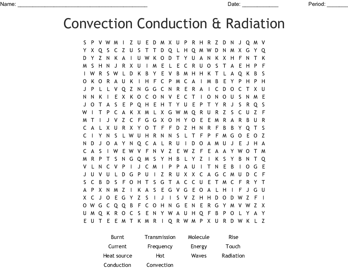 Conduction Convection And Radiation Worksheet Answer Key
