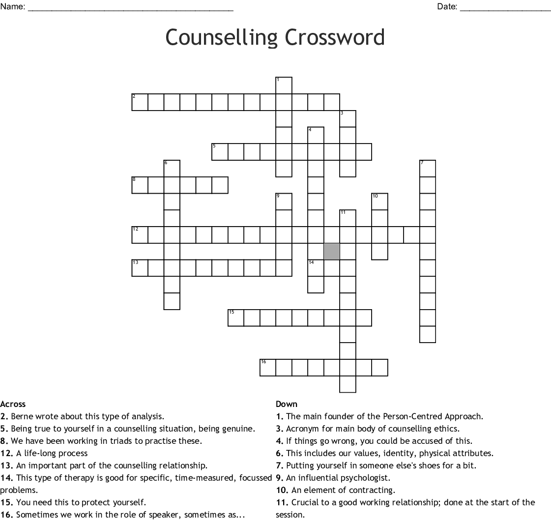 Social Services Crosswords Word Searches Bingo Cards
