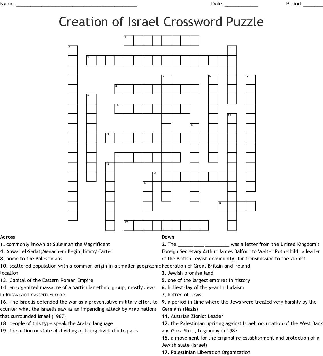 7th Grade Social Stu S Crossword