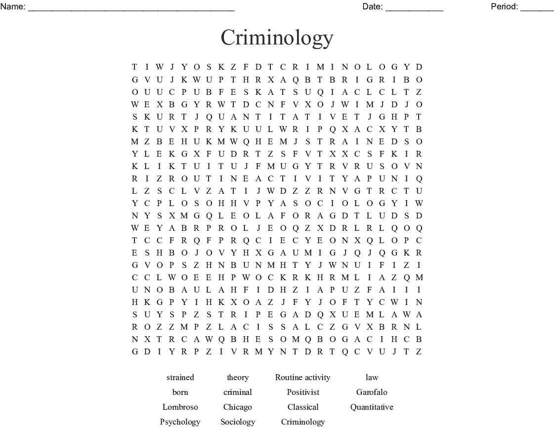 Similar To Crime And Deviance Bingo Cards
