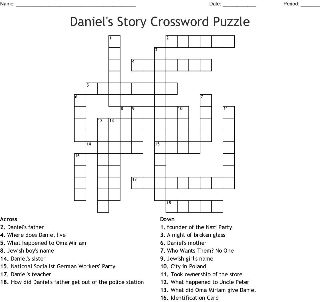 Esther The Queen Crossword