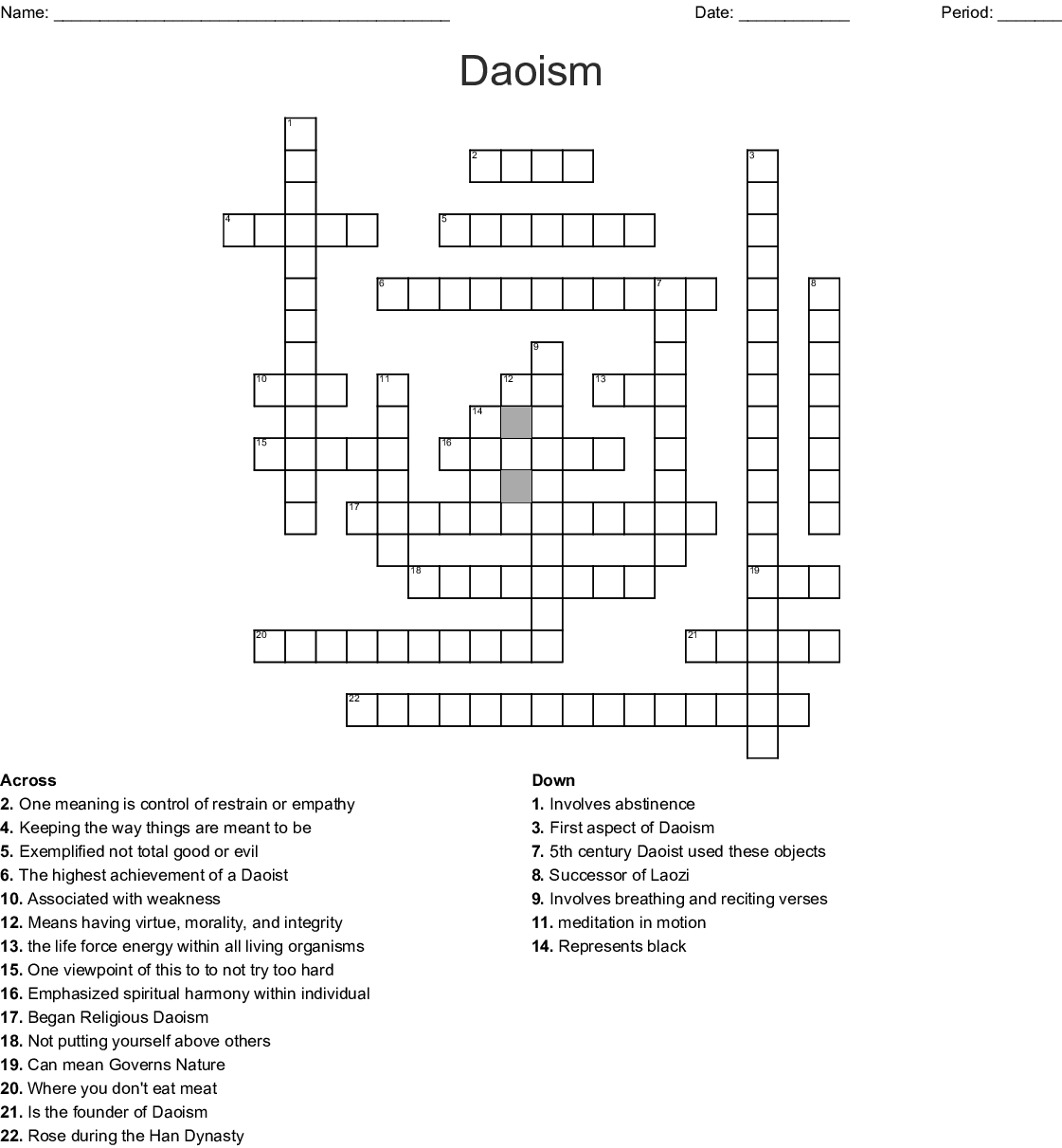 Similar To Daoism Word Search