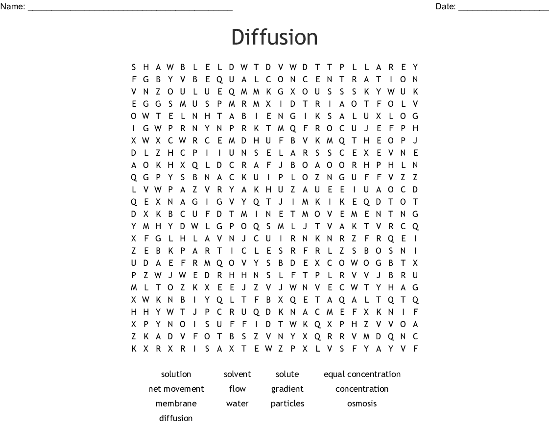 Diffusion Word Search