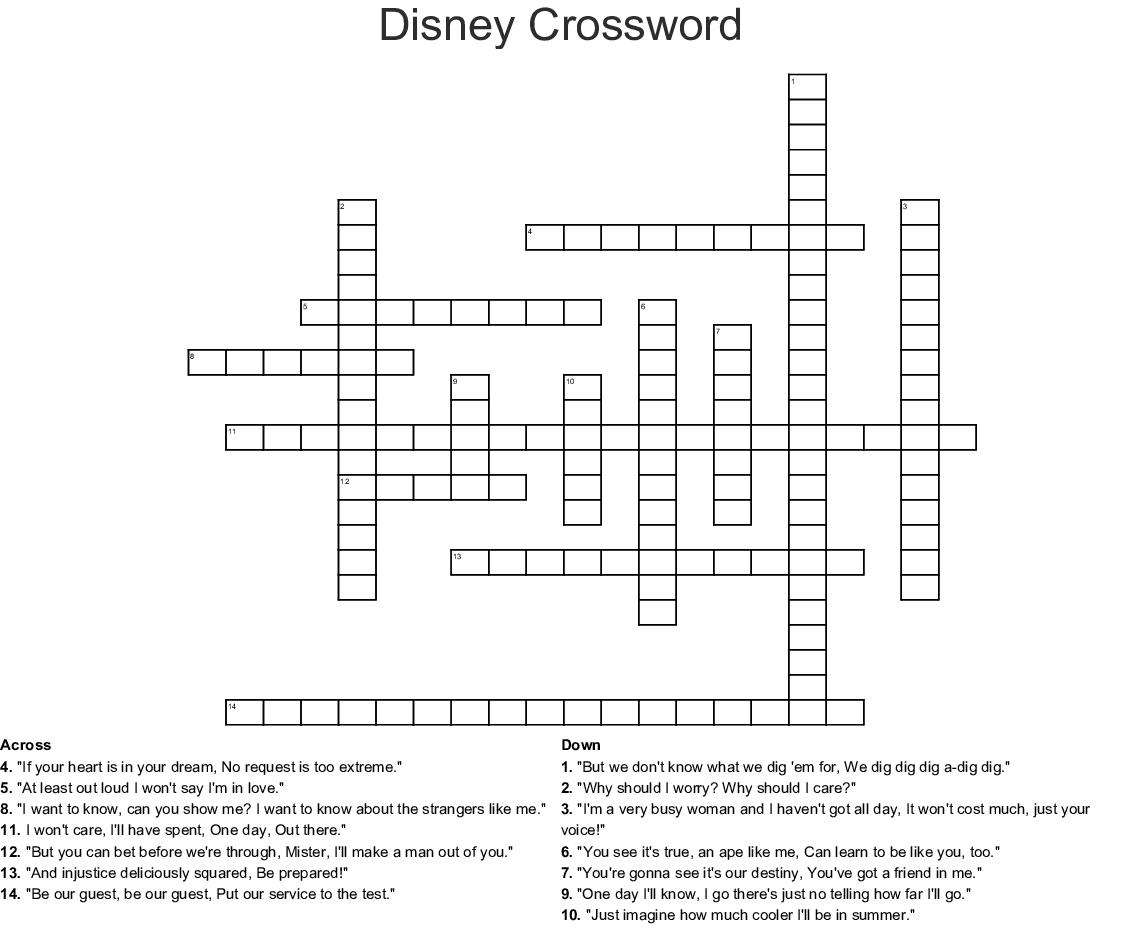 Disney Crossword