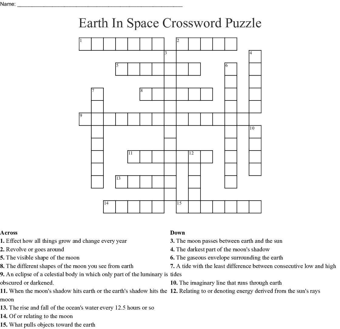 Earth In Space Crossword