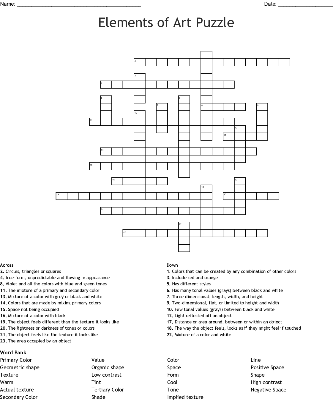 Edhelper Answer Key Science Crossword