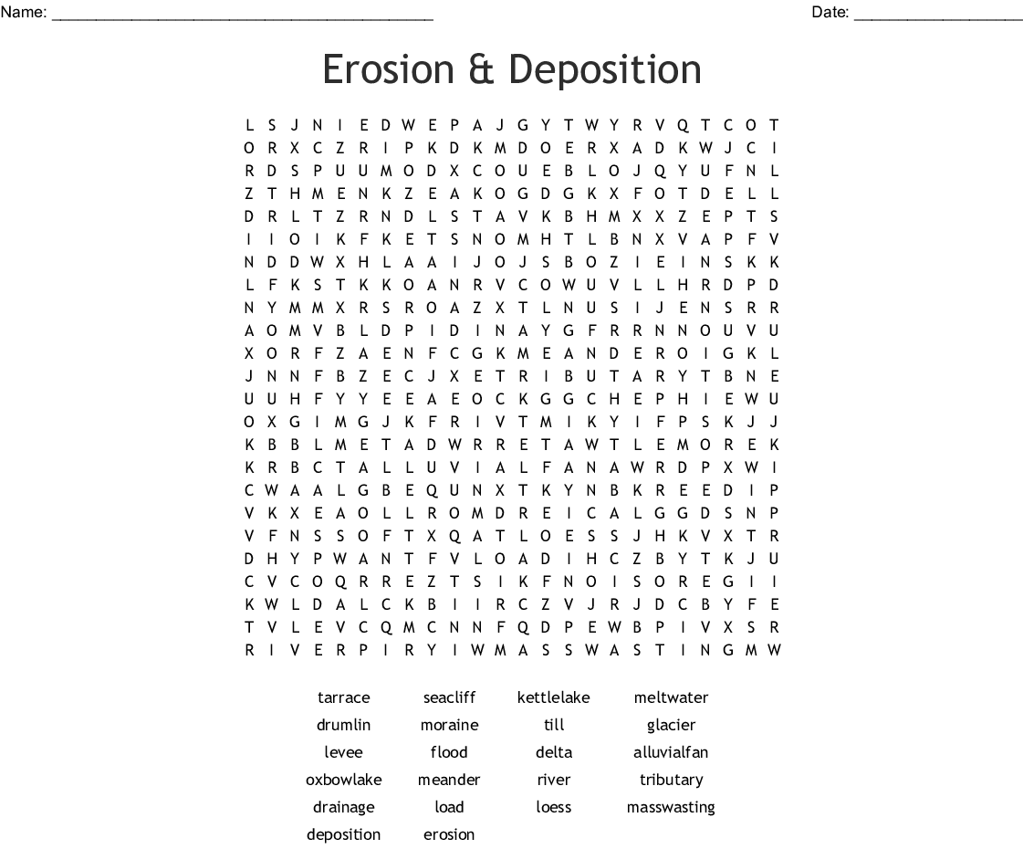 Water In Rivers Lakes And Wetlands Word Search