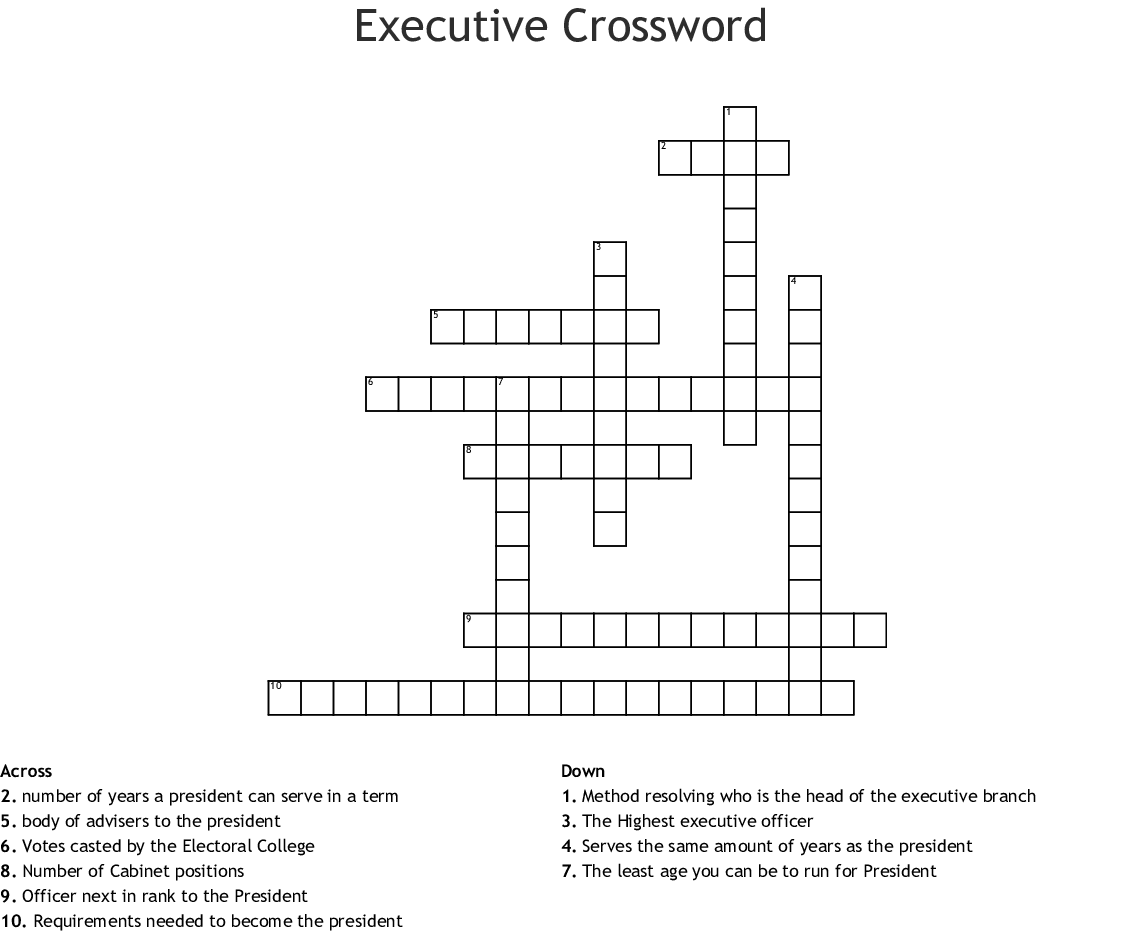 Executive Crossword