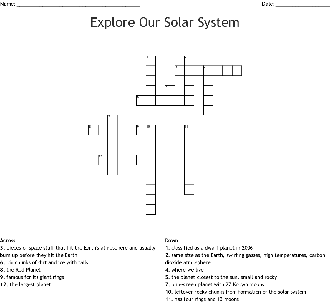 Formation Of The Solar System Worksheet Answers