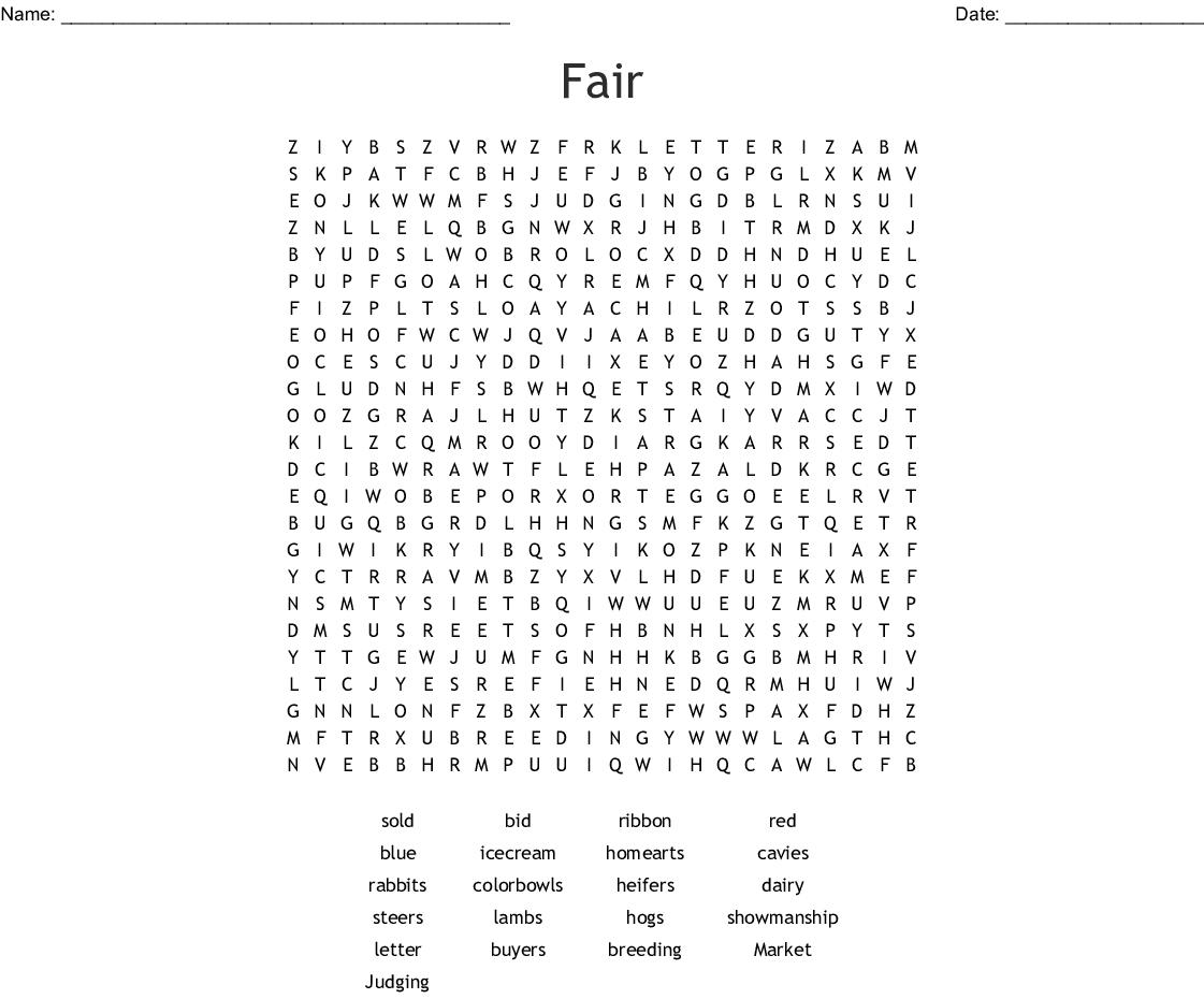 Fair Word Search
