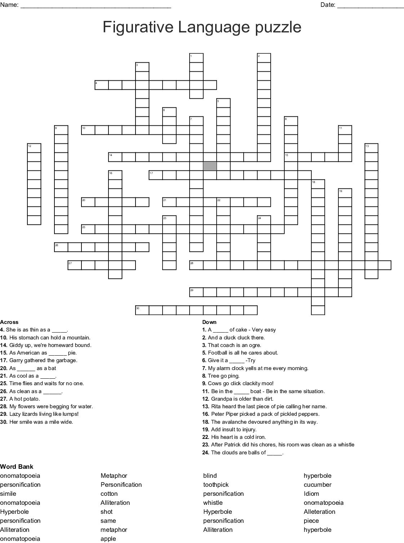Idioms Crossword