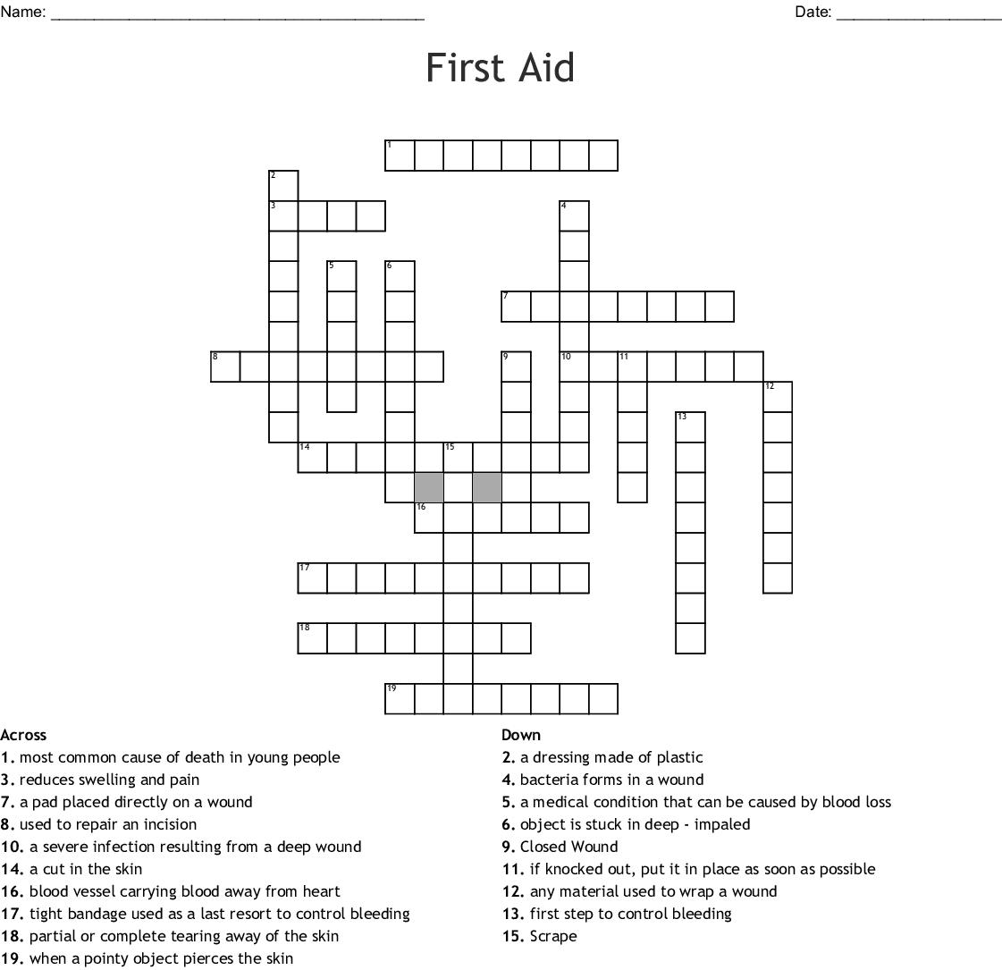 Wound Healing Crossword