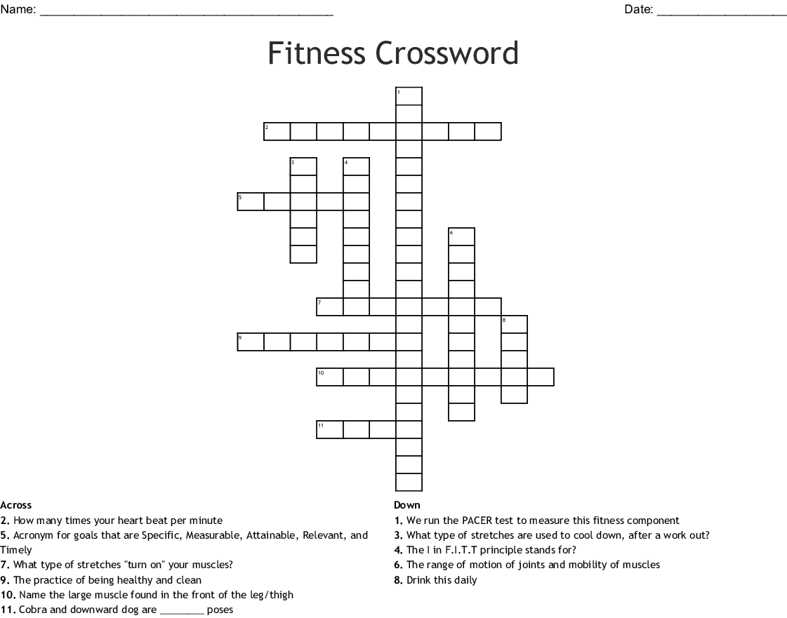 Exercise To Improve Cardiovascular Fitness Crossword